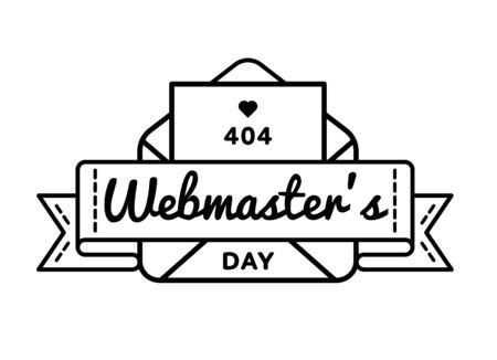 World Webmasters day greeting emblem