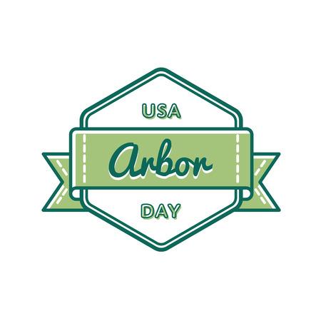 USA Arbor day greeting emblem