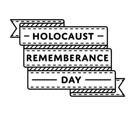 holocaust: Holocaust Remembrance Day greeting emblem
