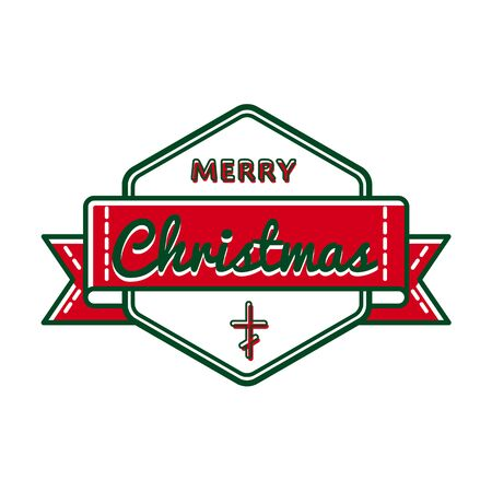 christmas greeting: Merry Christmas greeting event emblem
