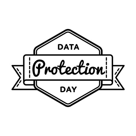 Data Protection day greeting emblem Illustration