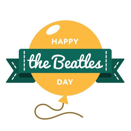 Happy The Beatles day greeting emblem Illustration