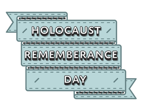 Holocaust Remembrance Day greeting emblem