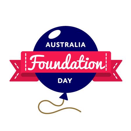 Australia Foundation day emblem isolated illustration on white background.