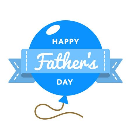 Happy Fathers day emblem isolated illustration on white background.