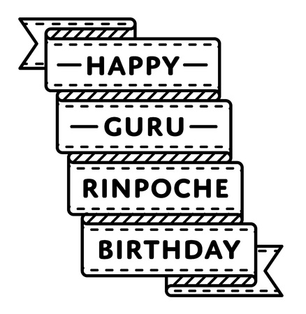 Happy Guru Rinpoche Birthday greeting emblem