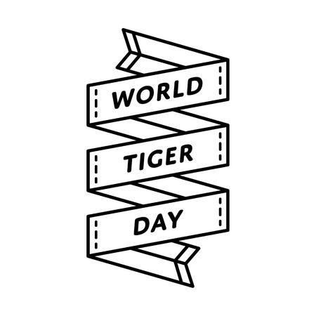 World Tiger day greeting emblem Illustration