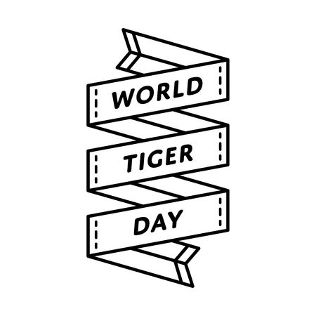 safeness: World Tiger day greeting emblem Illustration