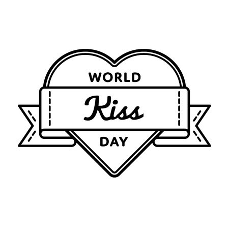 World Kiss Day greeting emblem