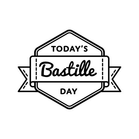 Today Bastille day greeting emblem