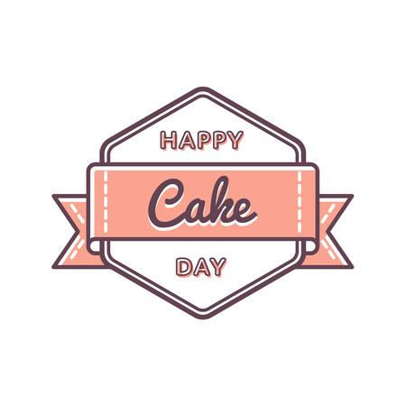 Happy Cake Day greeting emblem Ilustração