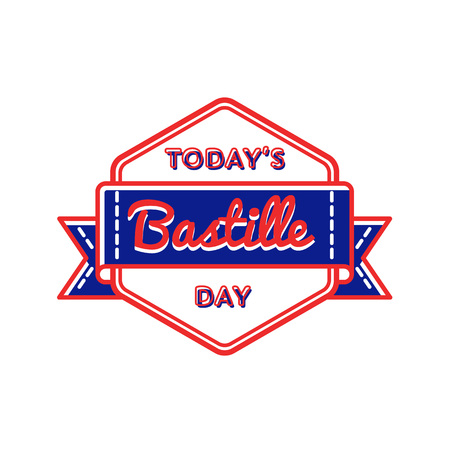 Today Bastille day greeting emblem