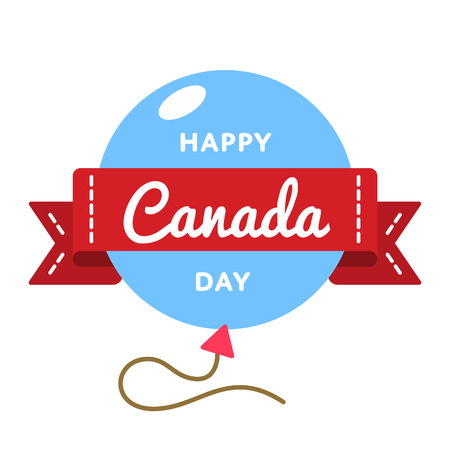 Happy Canada day greeting emblem