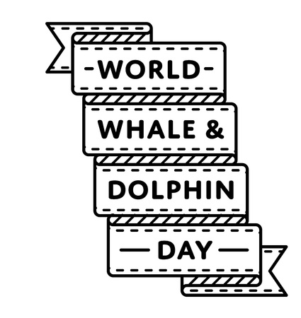 World Whale & Dolphin day greeting emblem