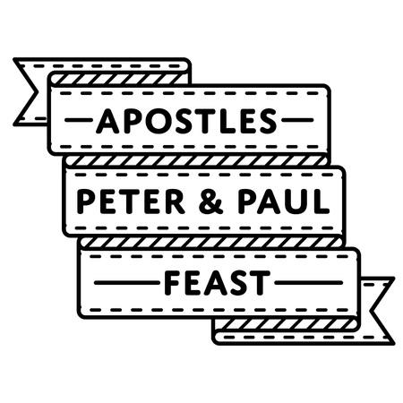 Apostles Peter & Paul Feast greeting emblem Illustration