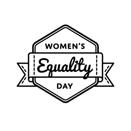 emancipation: Womens Equality day emblem isolated vector illustration on white background. 26 august USA feminine holiday event label, greeting card decoration graphic element