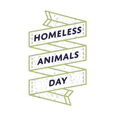 Homeless Animals day emblem isolated vector illustration on white background. 19 august animal rights protection holiday event label, greeting card decoration graphic element