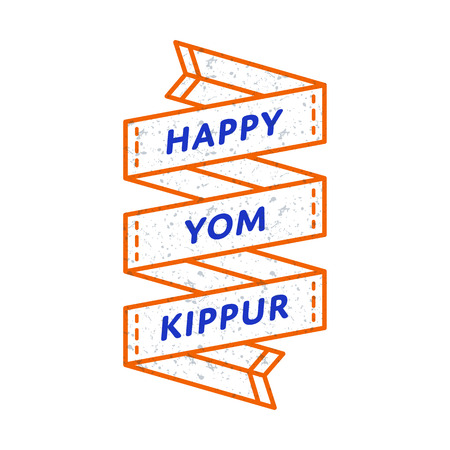 Happy yom kippur emblem isolated vector illustration on white happy yom kippur emblem isolated vector illustration on white background 29 september jewish traditional holiday m4hsunfo