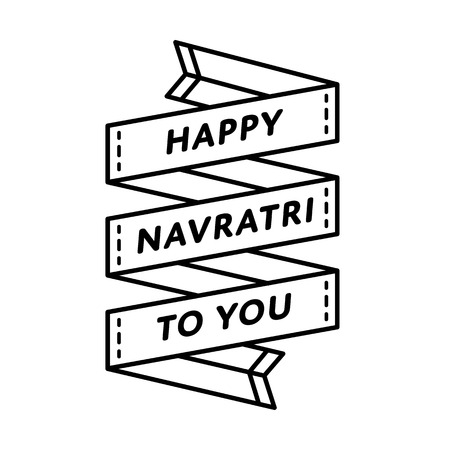 Happy Navratri to You emblem isolated vector illustration on white background. 30 september indian holiday event label, greeting card decoration graphic element