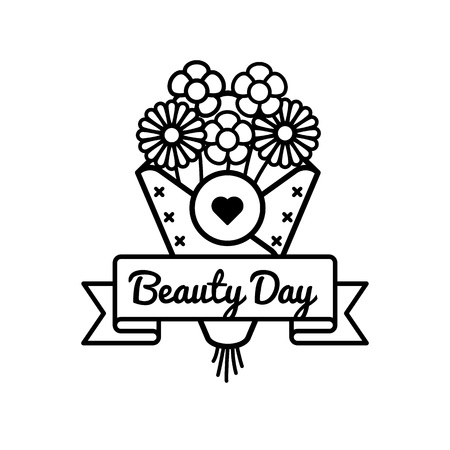 World Beauty day emblem isolated vector illustration on white background. 9 september world holiday event label, greeting card decoration graphic element