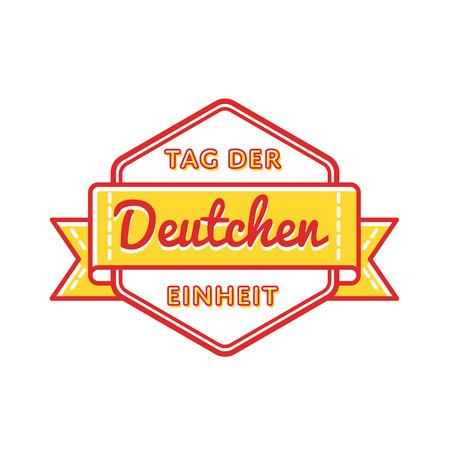 Tag Der Deutschen Einheit emblem isolated vector illustration on white background. 3 october german national holiday event label, greeting card decoration graphic element