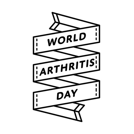 World Arthritis day emblem isolated vector illustration on white background. 12 october global healthcare holiday event label, greeting card decoration graphic element