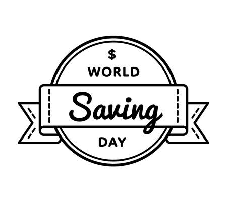 World Saving day emblem isolated vector illustration on white background.