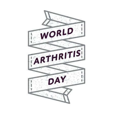 World Arthritis day emblem isolated vector illustration on white background.