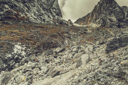 Mountain landscape panoramic view with dramatic sky Zdjęcie Seryjne