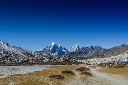 Mountain landscape panoramic view with blue sky Stock Photo - 91695662
