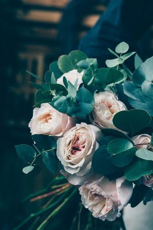 Flower arrangement in beautiful bouquet made by professional florist