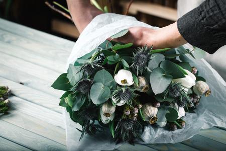 Modern flower bouquet from professional