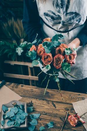 Flower arrangement in beautiful bouquet
