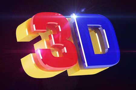 Logo 3D cinema. 3D render.