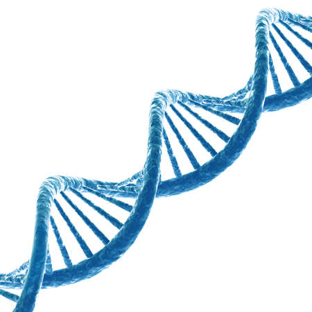 researchs: DNA molecule. Isolated on white background. 3D render Stock Photo