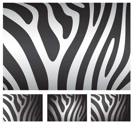 streaky: zebra skin backgrounds set