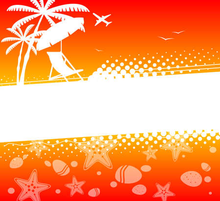 summer holiday: Summer holiday abstract background Illustration