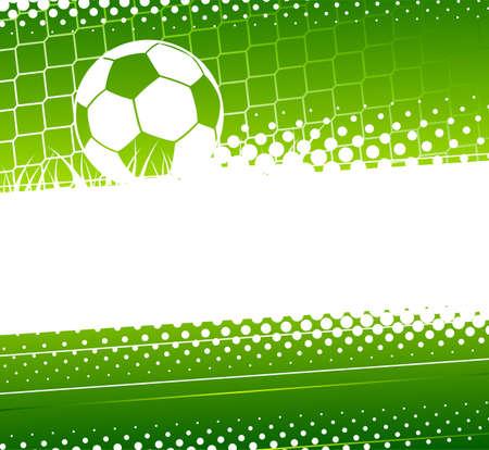 サッカーの背景を抽象化します。サッカー ボールとゴールキーパーの門