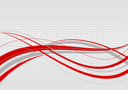 Abstract wavy background. Red lines on a gray mottled background