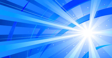 light beams: abstract background. Rays of light on the blue background