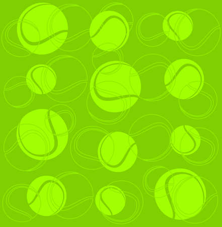 tennisball: Silhouettes of tennis balls on a green background