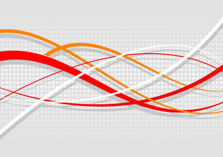 mottled background: Abstract wavy background. Red lines on a gray mottled background
