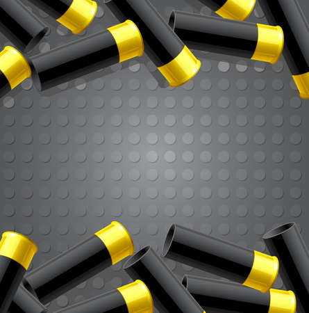 ammunition: Background with ammunition for hunting. Vector illustration