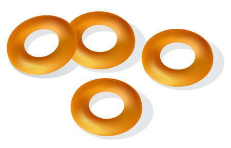 Bagels isolated on white background. Vector illustration