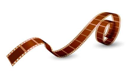 twisted film strip on white background. Vector illustration Illustration