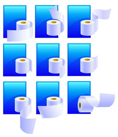 defecation: Set Variations of rolls of a paper. Vector illustration Illustration