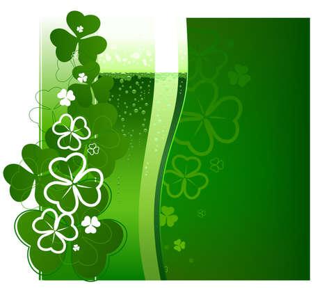 St. Patricks Day green beer. Vector illustration Illustration