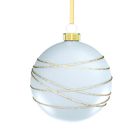 Christmas ball. Isolated on white background. 3D Illustration