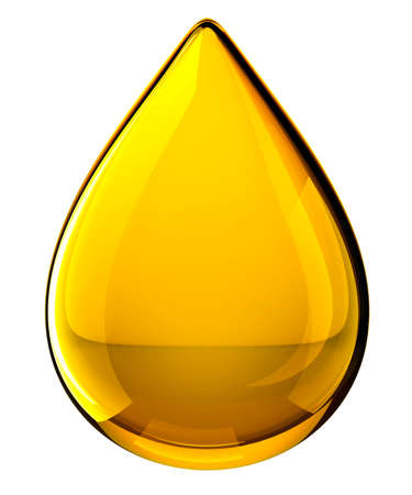 Oil Drop. Isolated on white background. 3D illustration Zdjęcie Seryjne