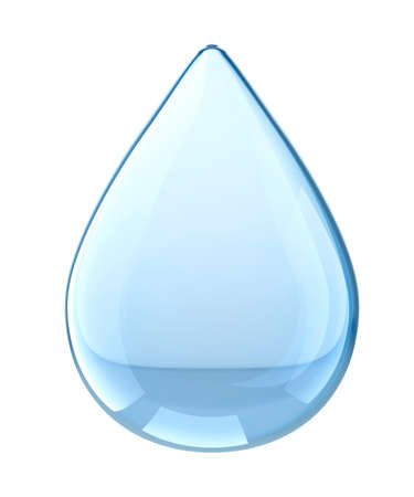 Water Drop. Isolated on white background. 3D illustration Zdjęcie Seryjne